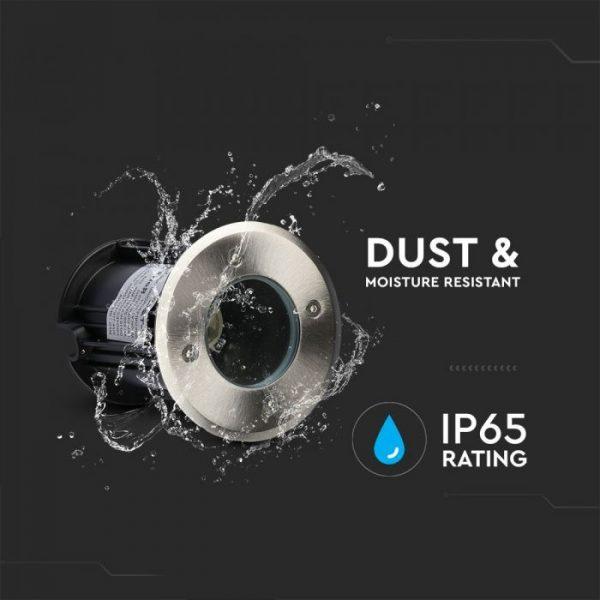 Under Ground Fitting Steel Body GU10 Black Round IP65