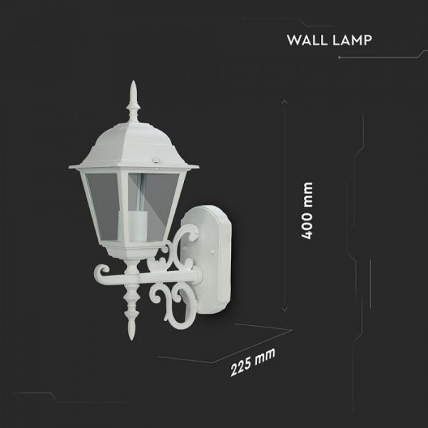 Wall Lamp Small Matt White Up