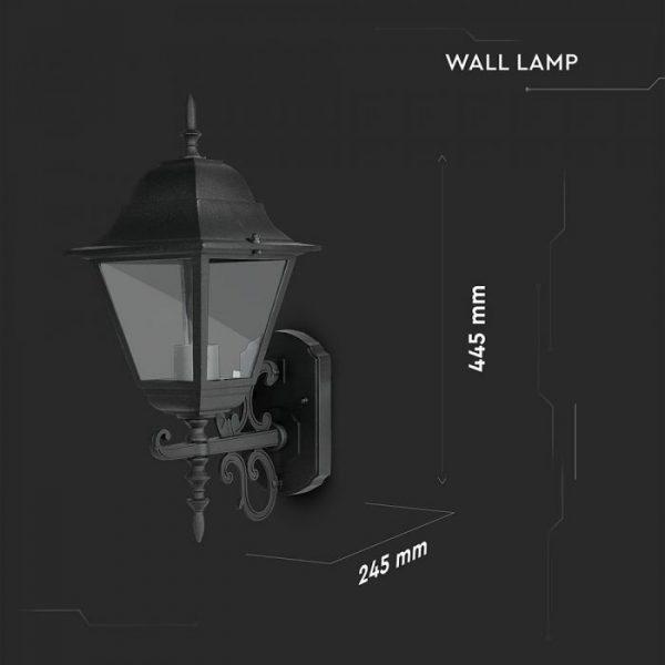 Wall Lamp Large Matt Black Up