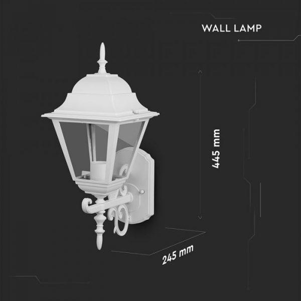 Wall Lamp Large Matt White Up