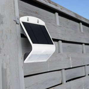 3W LED Solar Wall Light White+Black Body