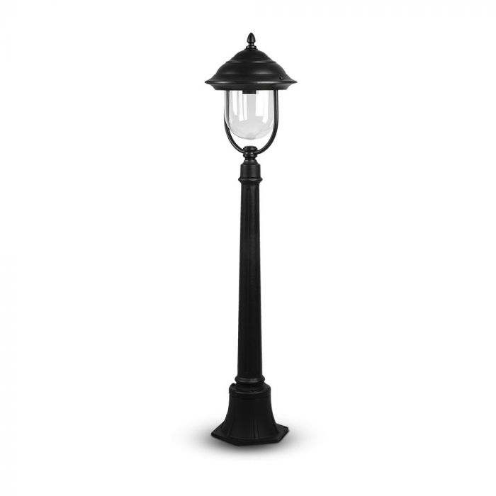 Classic Traditional Pole Lamp With Clear PC Cover Black