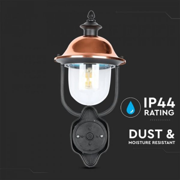 Wall Lamp E27 With Clear Glass Cover Up Lighting