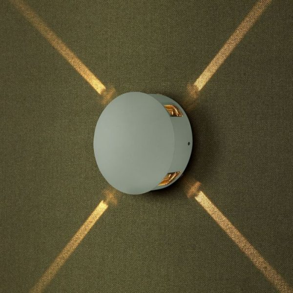 4W LED Wall Light Round IP65