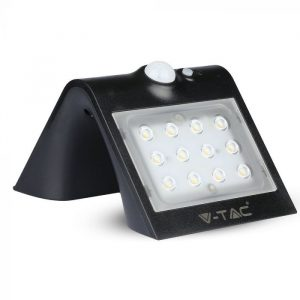 1.5W LED Solar Wall Light 4000K 4000K Black Black Body
