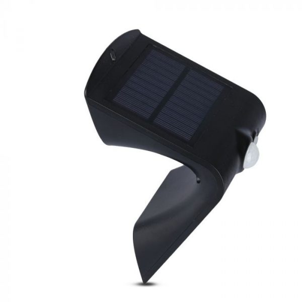 1.5W LED Solar Wall Light Black Body