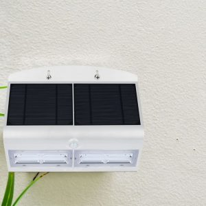 6.8W LED Solar Wall Light 4000K White Black Body