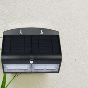 6.8W LED Solar Wall Light 4000K 4000K Black Black Body