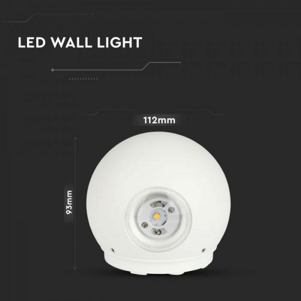 6W LED Round Wall Light IP65 3000K/ 4000K