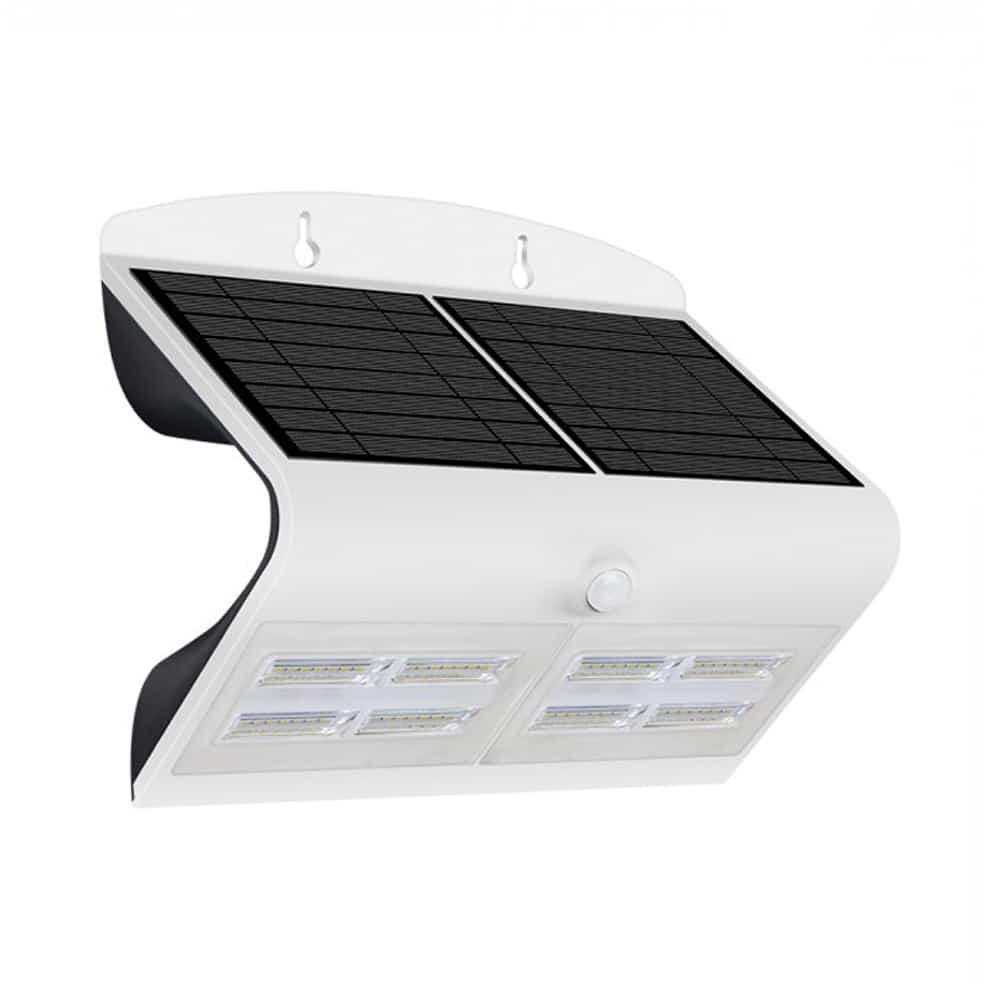 6.8W LED Solar Wall Light 4000K White Black Body