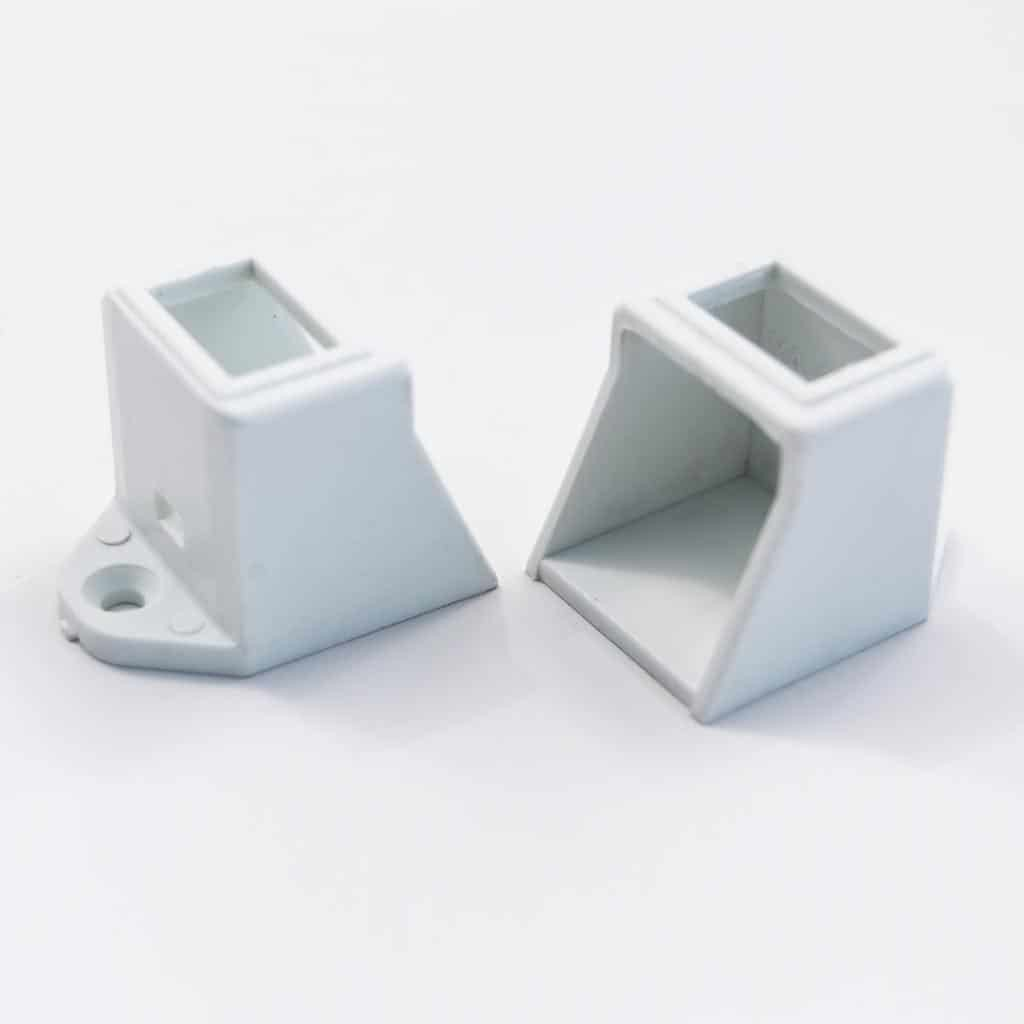 Plastic end Cap Square Surface White with cut-hole for switch (pcs)