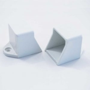 Plastic End Cap Square Surfaces White
