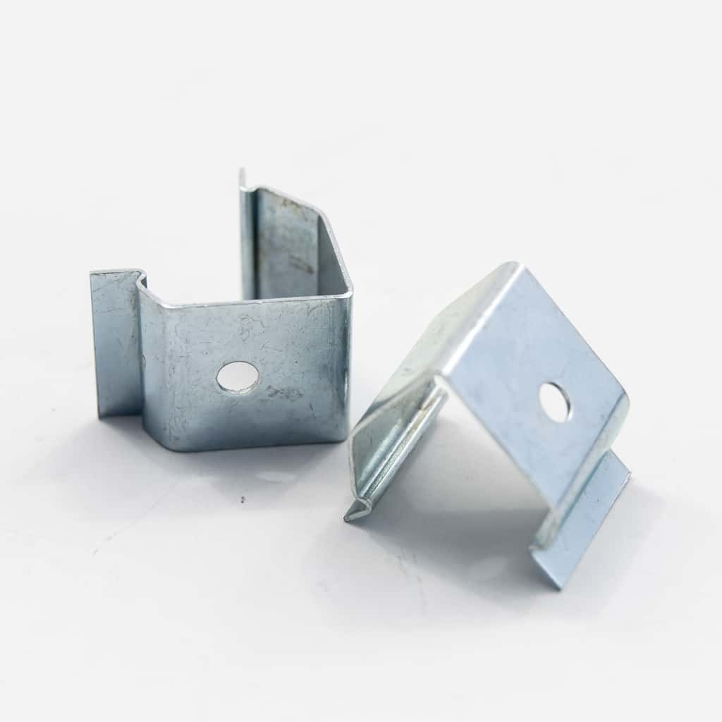 Stainless Steel Mounting Plate Corner for Surfaces Profiles 18mm