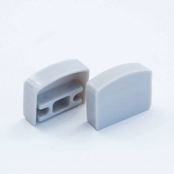 Plastic End Cap Grey for Surface Profile Round Flat Diffuser 18mm