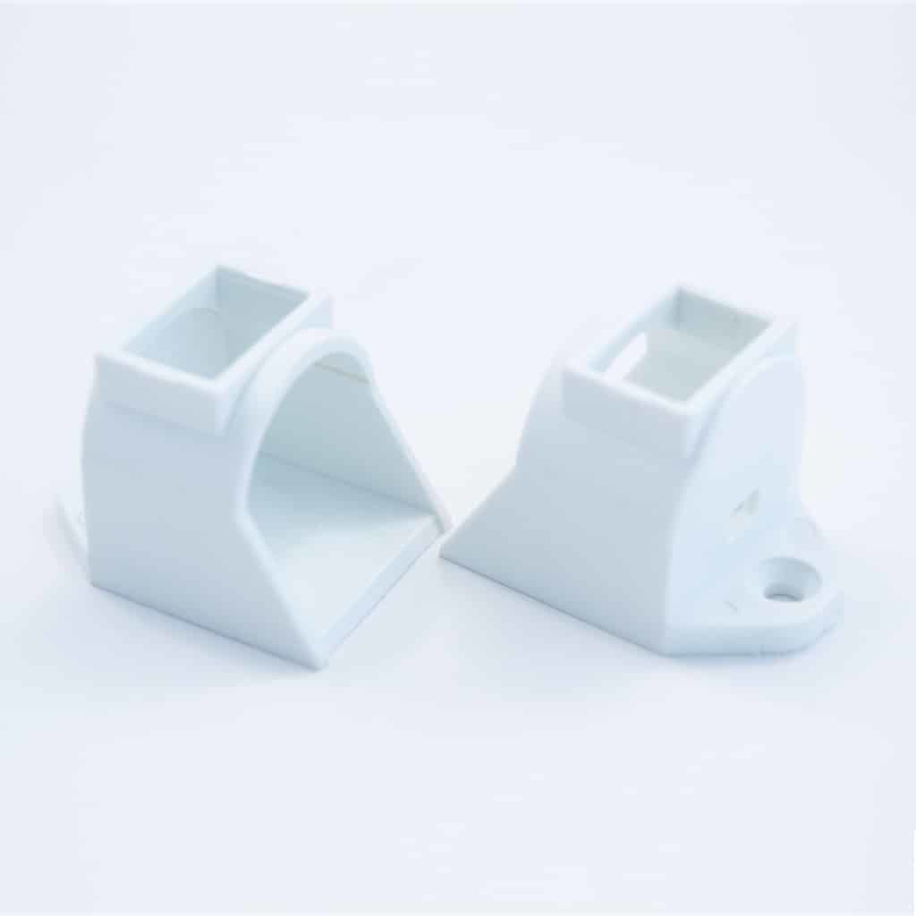 Plastic End Cap With Swich for Surface Profile Round Diffuser 18mm