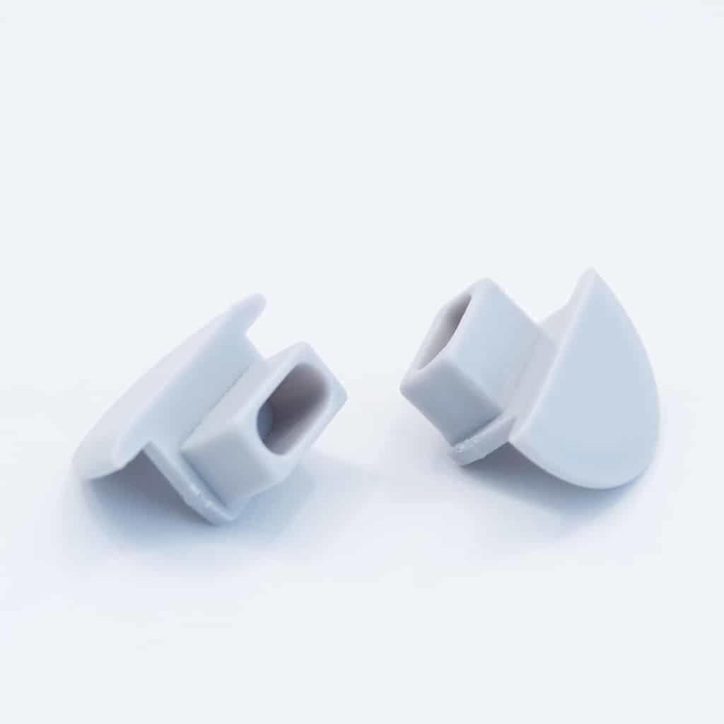 Plastic End Cap Grey for Recessed Profile Flat Diffuser 15mm