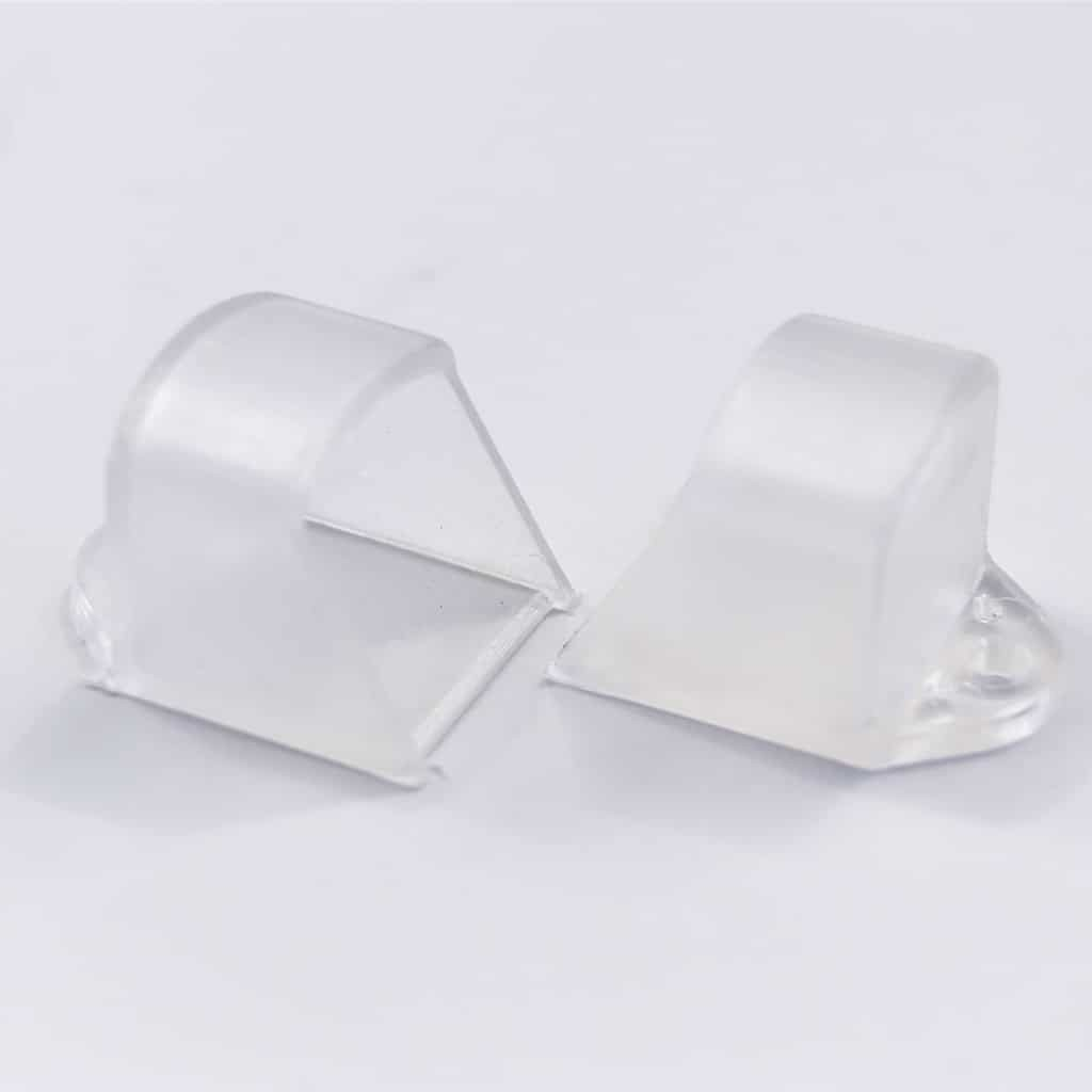 Plastic End Cap Transparent for Surface Profile Round Diffuser 18mm