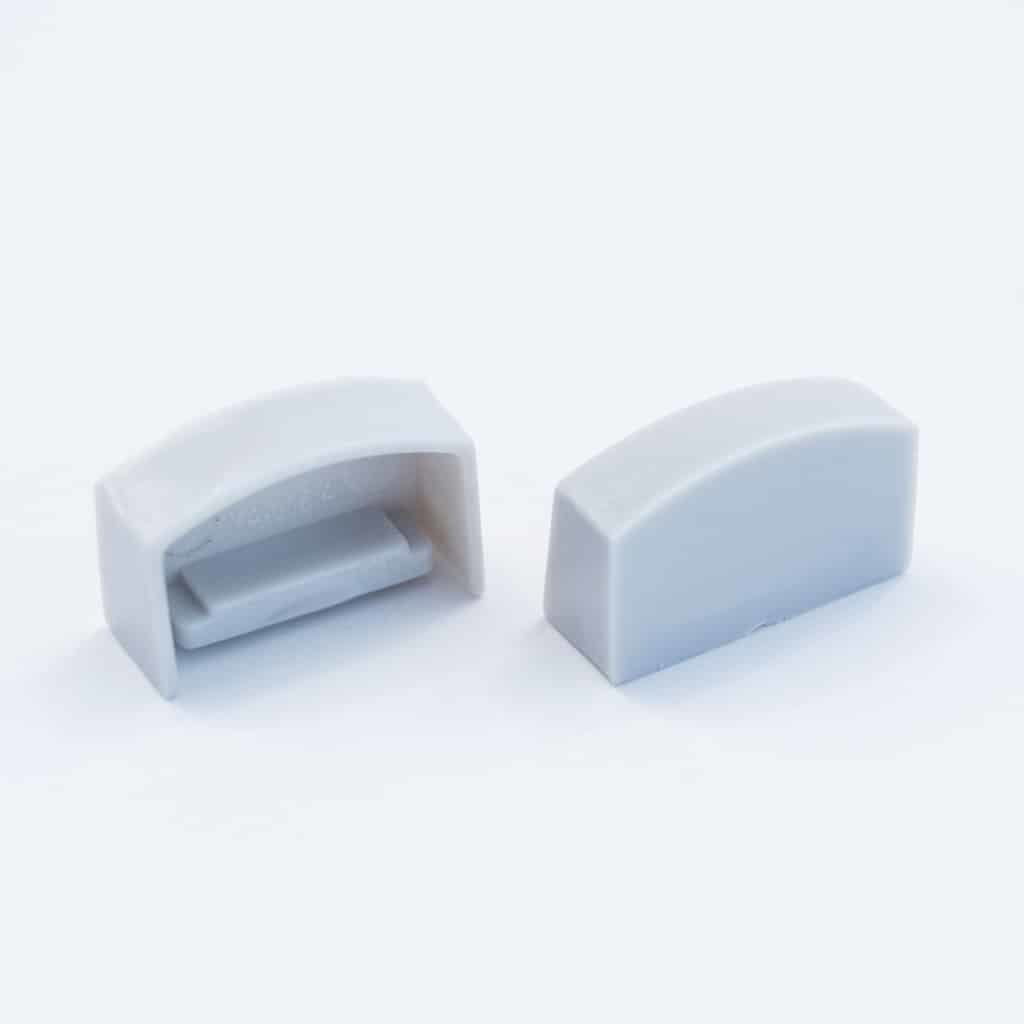 Plastic End Cap Grey for Slim Surface Profile Round Flat Diffuser 18mm