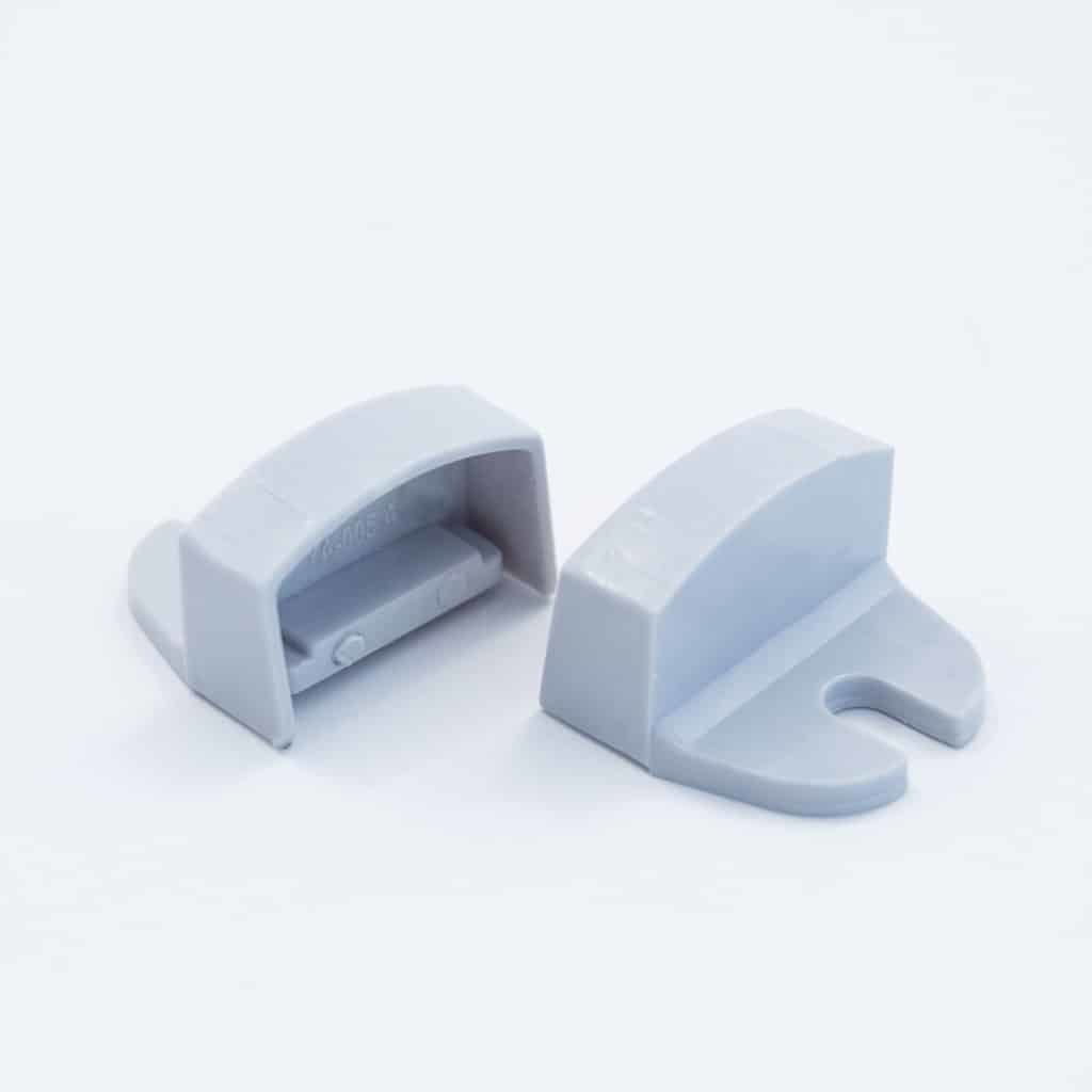 Plastic End Cap Grey for Slim Surface Profile Round Flat Diffuser 18mm W holder