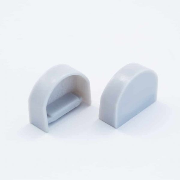Plastic End Cap Grey for Slim Surface Profile Round Diffuser 18mm