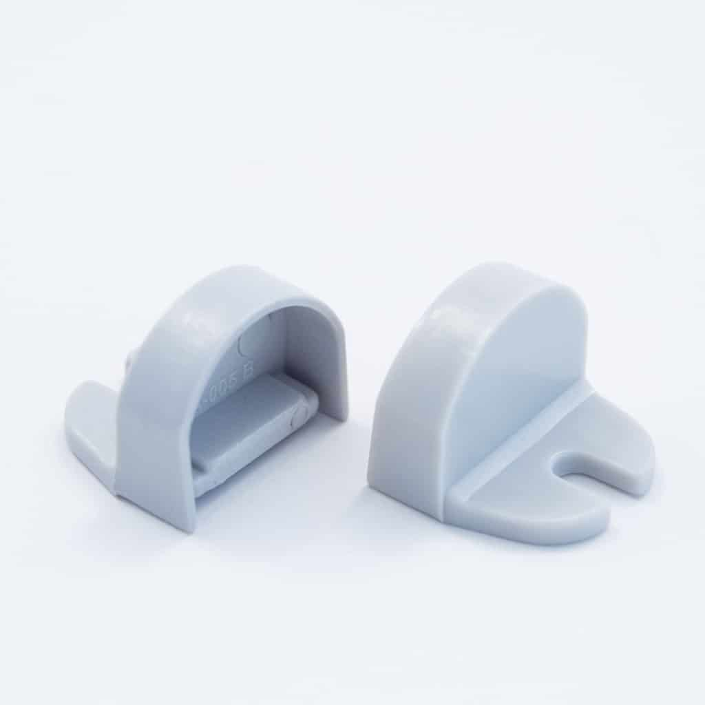 Plastic End Cap Grey for Slim Surface Profile Round Diffuser 18mm W holder