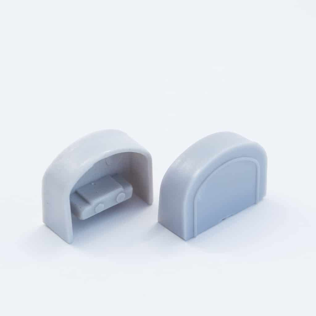 Plastic End Cap Grey for YA006 Surface Profile Round Diffuser 18mm