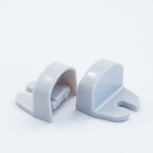 Plastic End Cap Grey for YA006 Surface Profile Round Diffuser 18mm W holder