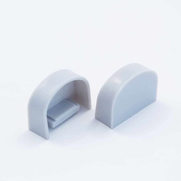 Plastic End Cap Grey for YA007 Surface Profile Round Diffuser 18mm