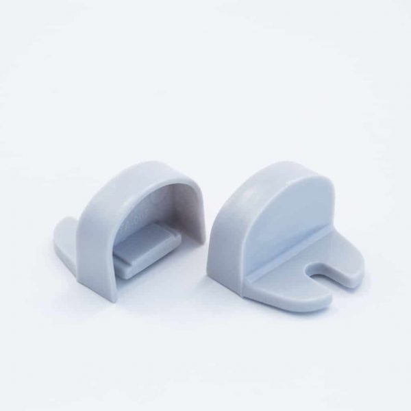 Plastic End Cap Grey for YA007 Surface Profile Round Diffuser 18mm W holder