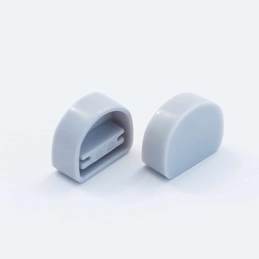 Plastic End Cap Grey for YA012 Surface Profile Round Diffuser 12mm