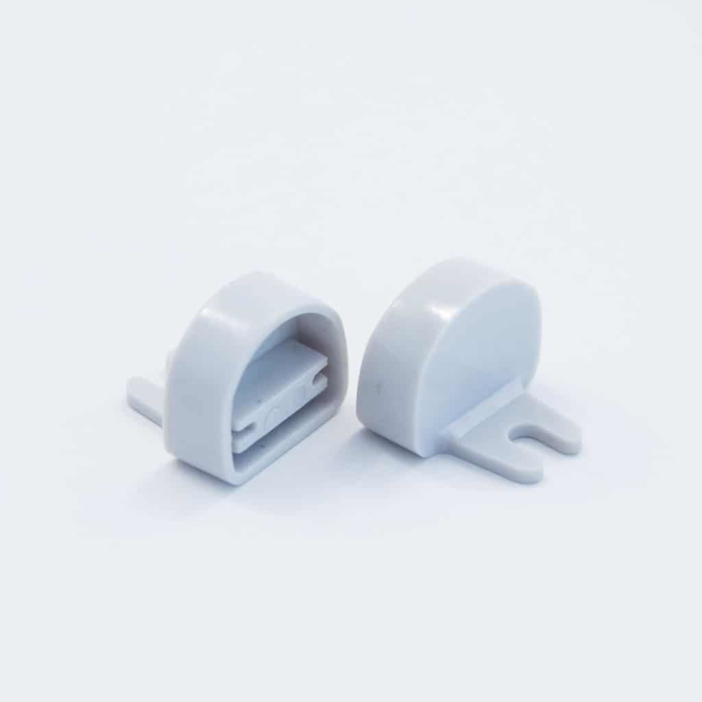 Plastic End Cap Grey for YA012 Surface Profile Round Diffuser 12mm W holder