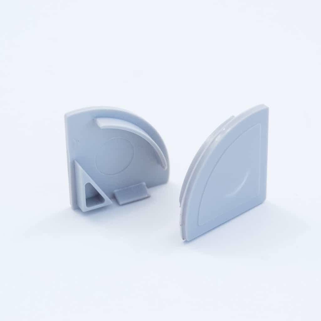 Plastic End Cap Grey for YA013 PC Led case diffuser