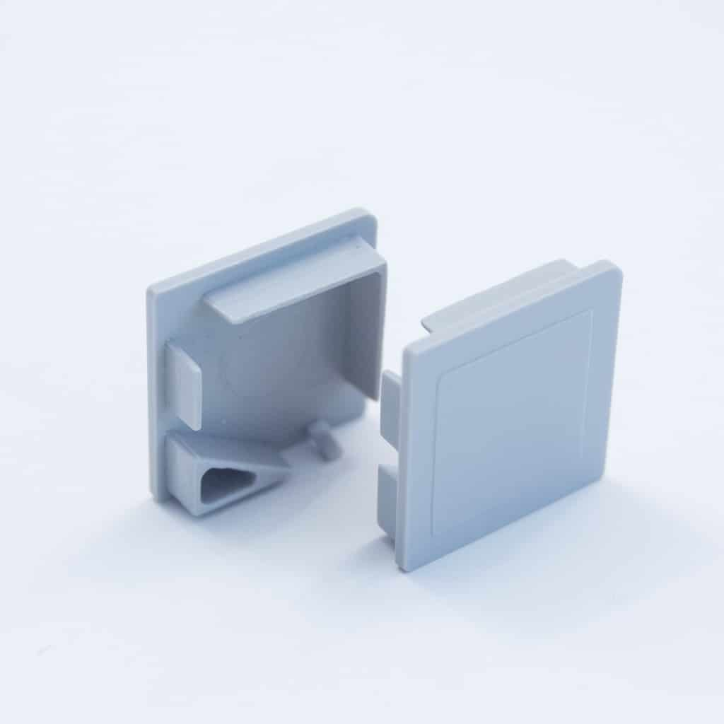 Plastic End Cap Grey for Corner Profile 20 x 20mm
