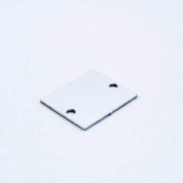 Aluminium End Cap White for surface Profile 26.5*21.5 laser cut