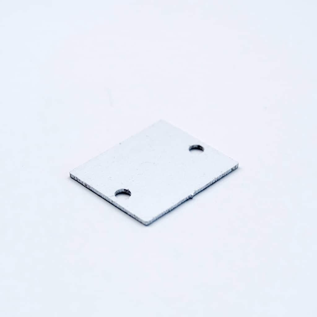 Aluminium End Cap White for surface Profile 26.5 x 21.5 laser cut
