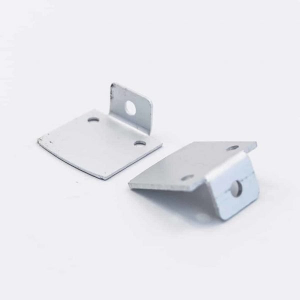 Aluminium End Cap Mat Anodize for surface Profile 26.5*21.5 laser cut W Holder