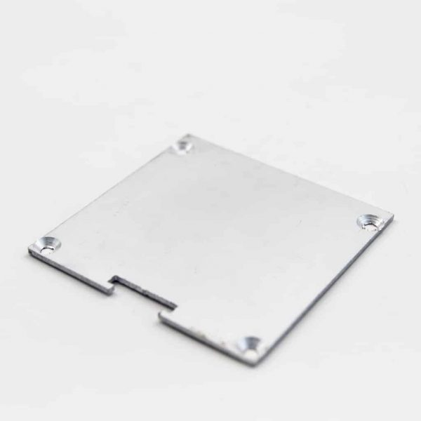 Aluminium End Cap Mat Anodize For surface profile Flat diffuser 60*60mm