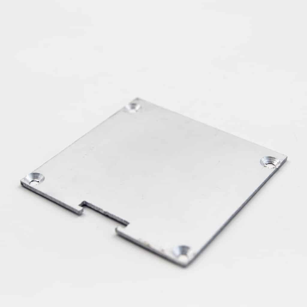 Aluminium End Cap For surface profile Flat diffuser 60 x 60mm