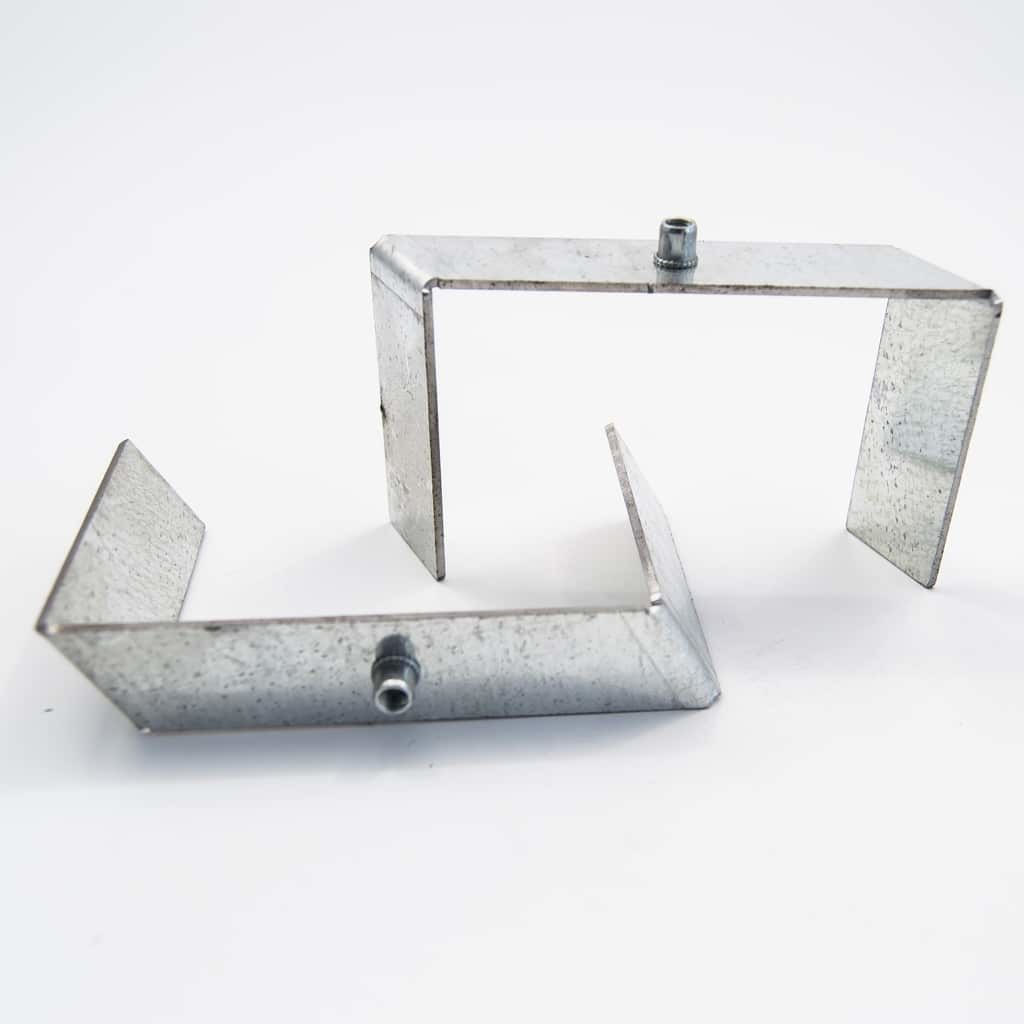 Metal Assembly holder plate for recessed profile 85mm*1.5mm