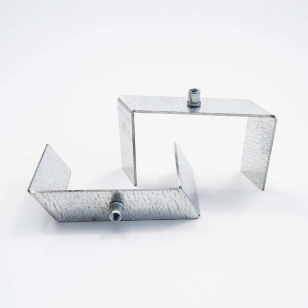 Metal Assembly holder plate for recessed profile 64mm*1.5mm