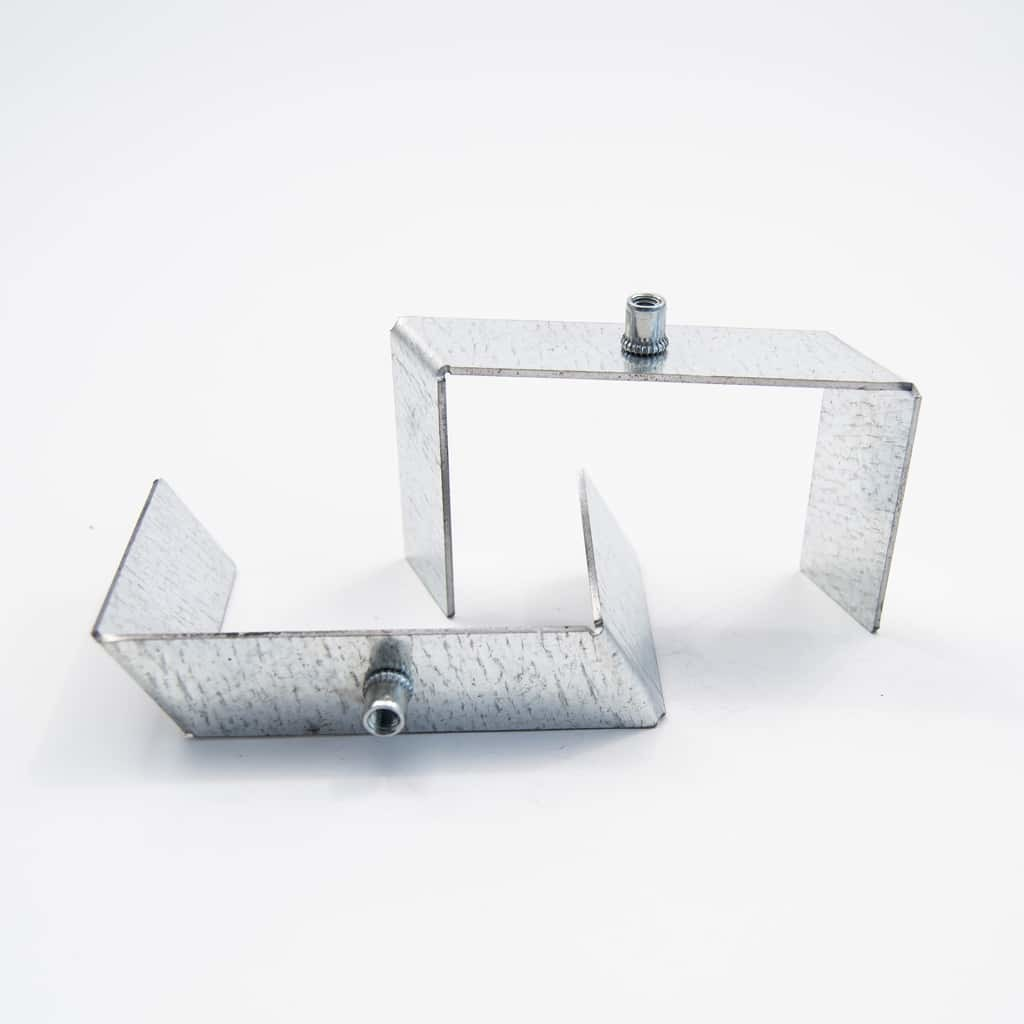 Metal Assembly holder plate for recessed profile 40mm*1.5mm