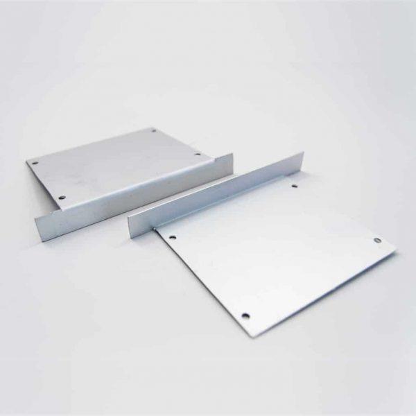 Aluminium End Cap Mat Anodize for recessed profile 85*75mm
