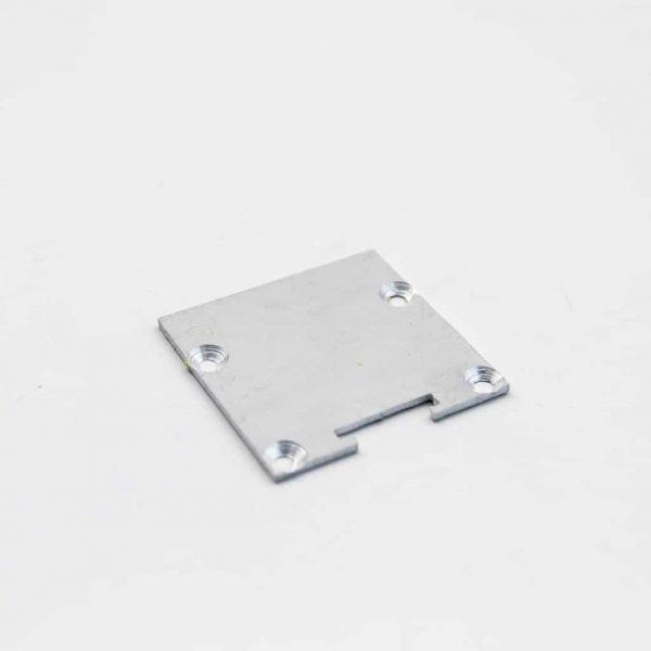 Aluminium End Cap Mat Anodize for surface profile 40*40mm