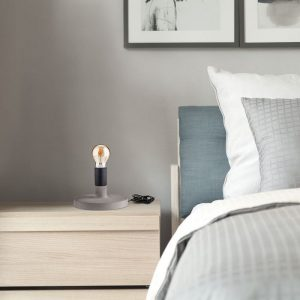 Concrete Table Lamp Black D170