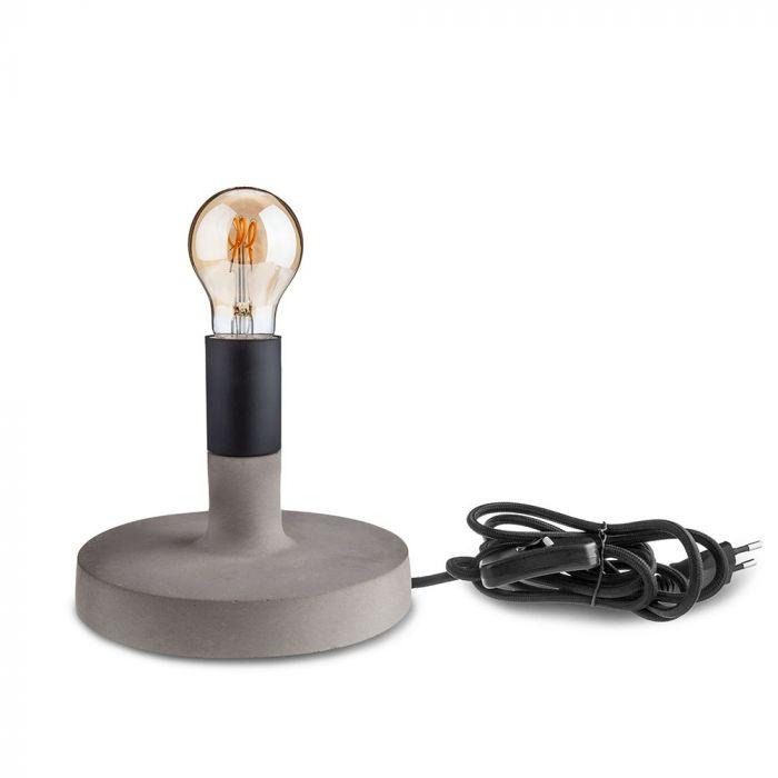 Concrete Table Lamp Black D170