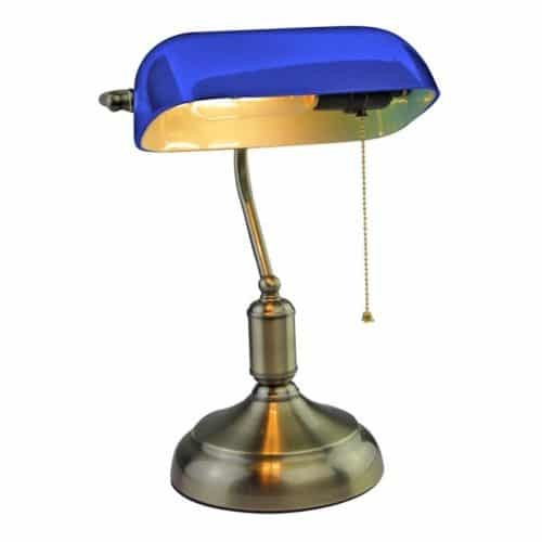 E27 Bakelite Table Lampholder With Switch Blue
