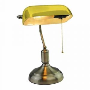 E27 Bakelite Table Lampholder With Switch Yellow