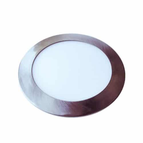 24W LED Slim Panel Light - Round -Satin Nickel