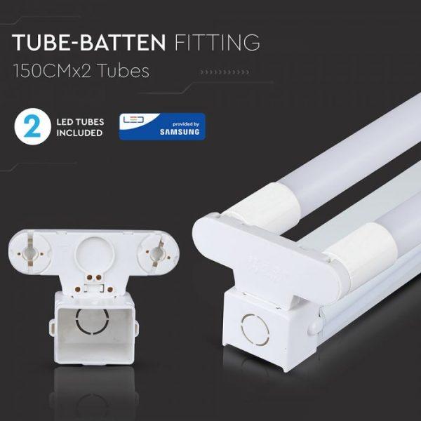 LED Double Batten Fitting 150cm 44W Samsung Chip