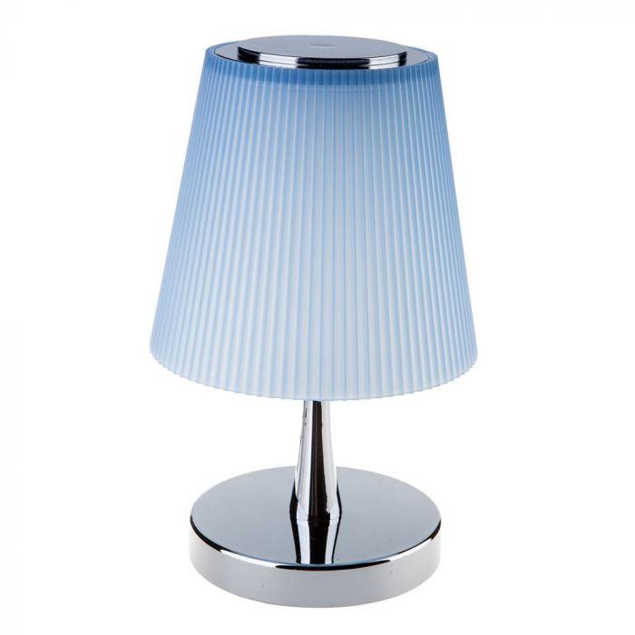 5W LED Desk Lamp 4000K Chrome Body Blue Shade